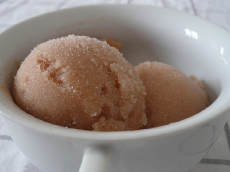 Pear & wheat beer sorbet